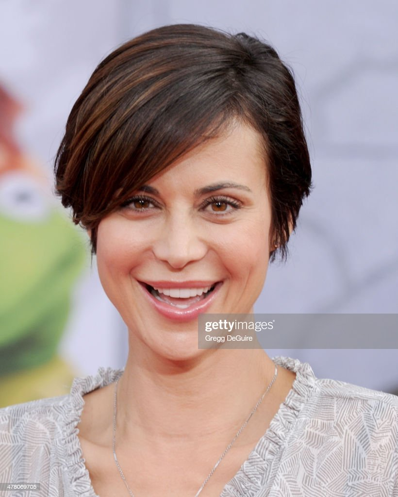 Actress <a gi-track='captionPersonalityLinkClicked' href=/galleries/search?phrase=Catherine+Bell&family=editorial&specificpeople=212729 ng-click='$event.stopPropagation()'>Catherine Bell</a> arrives at the Los Angeles premiere of 'Muppets Most Wanted' at the El Capitan Theatre on March 11, 2014 in Hollywood, California.
