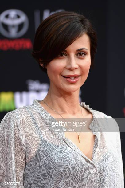 Actress Catherine Bell arrives at the premiere Of Disney's 'Muppets Most Wanted' at the El Capitan Theatre on March 11 2014 in Hollywood California
