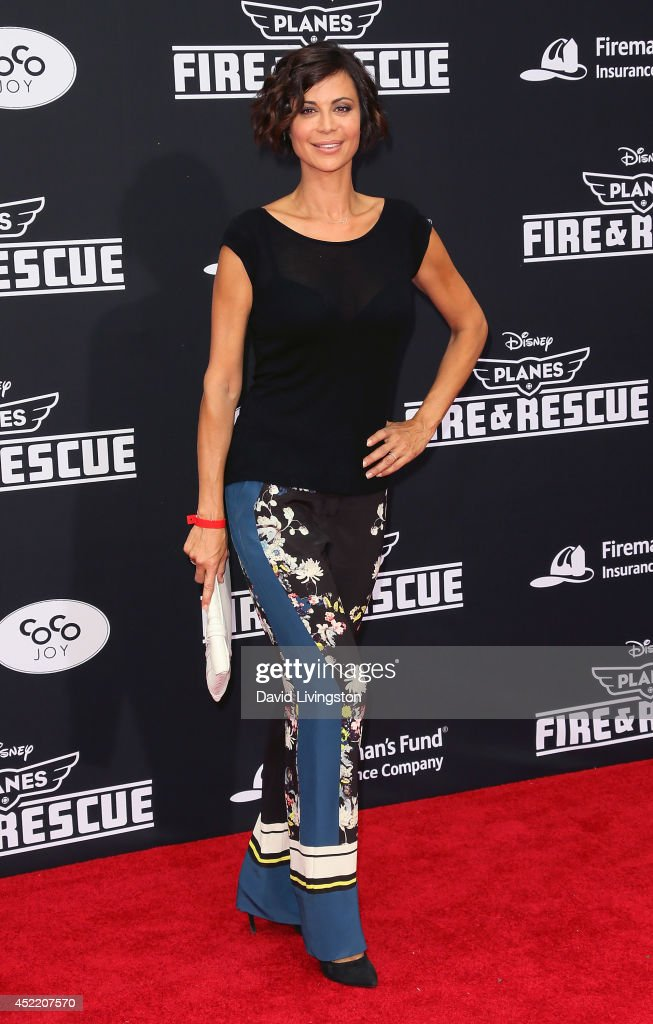 Actress <a gi-track='captionPersonalityLinkClicked' href=/galleries/search?phrase=Catherine+Bell&family=editorial&specificpeople=212729 ng-click='$event.stopPropagation()'>Catherine Bell</a> attends the premiere of Disney's 'Planes: Fire & Rescue' at the El Capitan Theatre on July 15, 2014 in Hollywood, California.