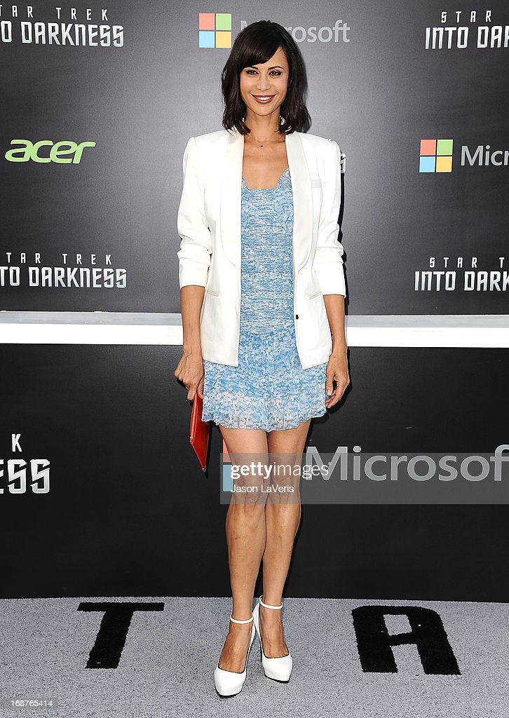 Actress Catherine Bell attends the premiere of 'Star Trek Into Darkness' at Dolby Theatre on May 14, 2013 in Hollywood, California.