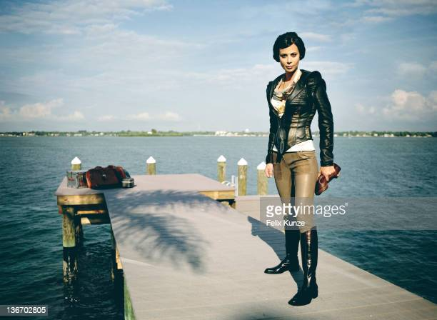 Actress Catherine Bell is photographed for Self Assignment on May 6 2011 in Miami Florida