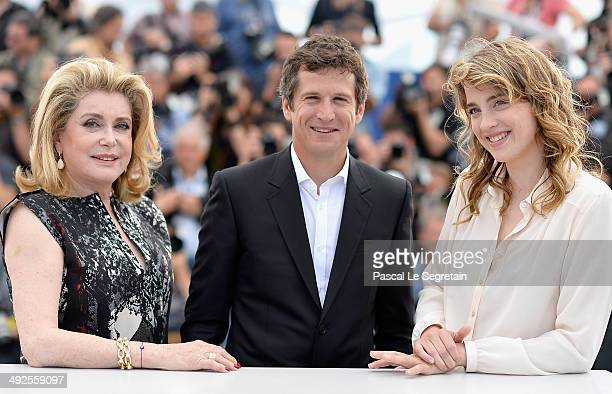 Actress Catherine Deneuve actor Guillaume Canet and actress Adele Haenel attend 'L'Homme Qu'On Aimait Trop' photocall at the 67th Annual Cannes Film...