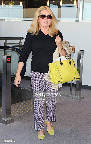 Actress Catherine Deneuve arrives at Narita International Airport on August 28 2013 in Narita Japan