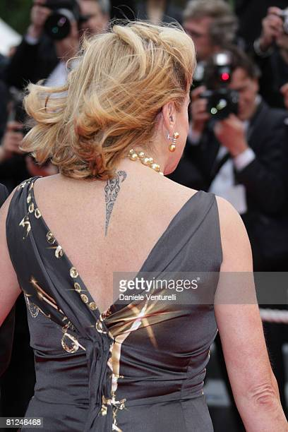 Actress Catherine Deneuve arrives at the Palme d'Or Closing Ceremony at the Palais des Festivals during the 61st International Cannes Film Festival...
