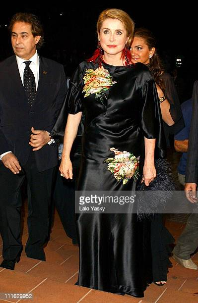 Actress Catherine Deneuve arrives for the opening Gala for the Las Palmas Film Festival to receive a special lifetime achievement award