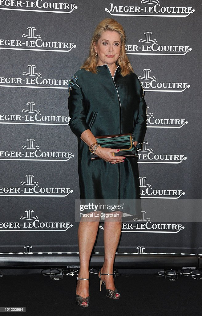 Actress Catherine Deneuve attends a gala dinner hosted by Jaeger-LeCoultre celebrating The Rendez-Vous Collection at Giustinian Palace in Venice during the 69th Venice Film Festival on September 4, 2012 in Venice, Italy.