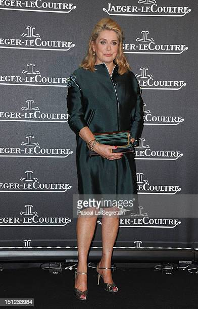 Actress Catherine Deneuve attends a gala dinner hosted by JaegerLeCoultre celebrating The RendezVous Collection at Giustinian Palace in Venice during...