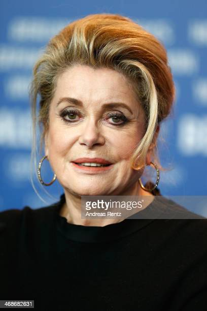 Actress Catherine Deneuve attends 'In the Courtyard' press conference during 64th Berlinale International Film Festival at Grand Hyatt Hotel on...