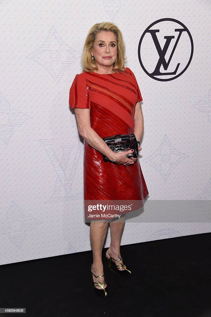 Actress <a gi-track='captionPersonalityLinkClicked' href=/galleries/search?phrase=Catherine+Deneuve&family=editorial&specificpeople=123833 ng-click='$event.stopPropagation()'>Catherine Deneuve</a> attends Louis Vuitton Monogram celebration at Museum of Modern Art on November 7, 2014 in New York City.