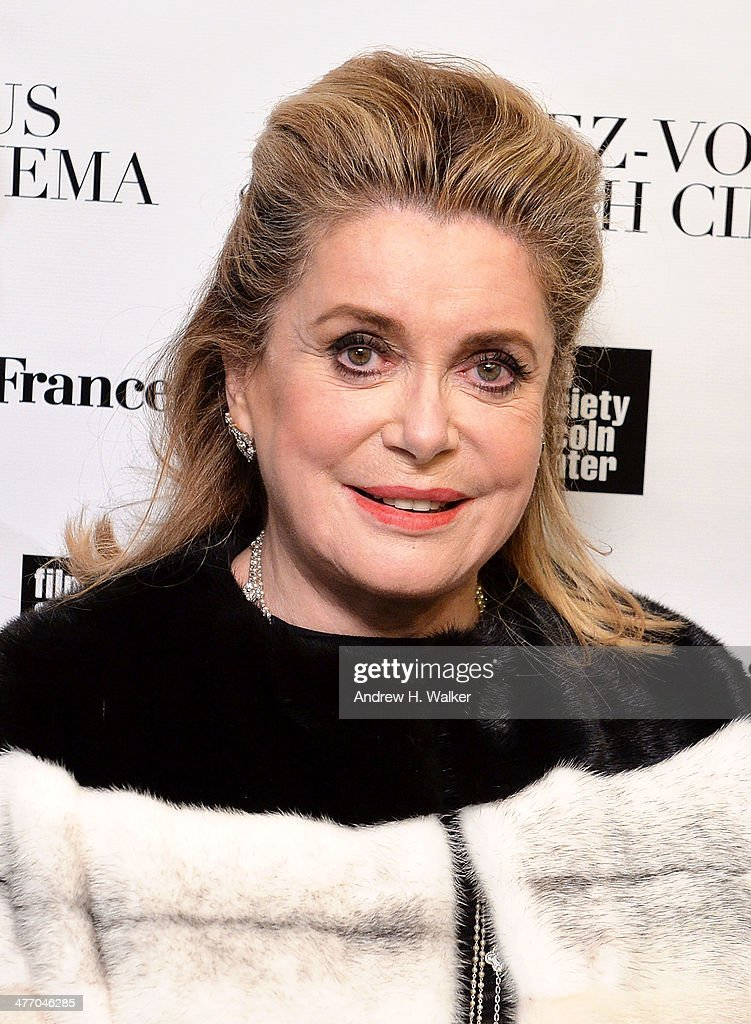 Actress <a gi-track='captionPersonalityLinkClicked' href=/galleries/search?phrase=Catherine+Deneuve&family=editorial&specificpeople=123833 ng-click='$event.stopPropagation()'>Catherine Deneuve</a> attends the 2014 Rendez-Vous with French Cinema opening night premiere of 'On My Way' at Paris Theater on March 6, 2014 in New York City.