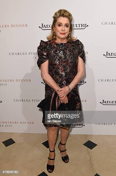 Actress Catherine Deneuve attends 'The Art Of Behind The Scenes JaegerLeCoultre And Finch Partners' party at Hotel du CapEdenRoc on May 15 2015 in...
