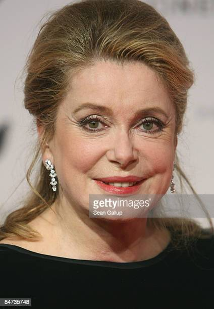 Actress Catherine Deneuve attends the 'Cinema For Peace Berlin 2009' during the 59th Berlin International Film Festival at the Konzerthaus am...
