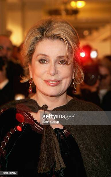 Actress Catherine Deneuve attends the Cinema for Peace Charity Gala on 12 February 2007 in Berlin Germany The gala is traditionally held during the...