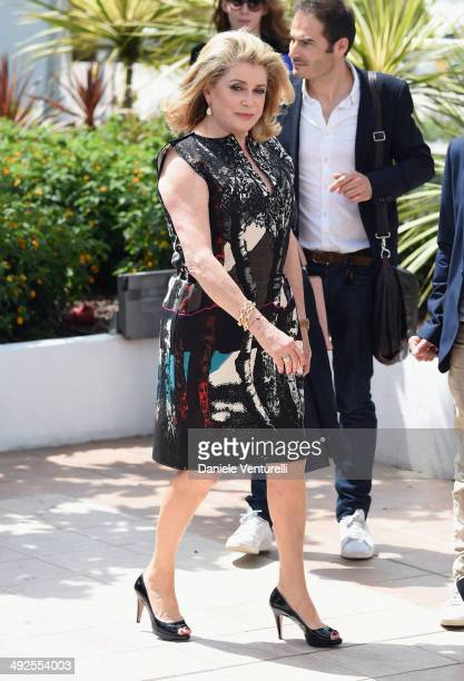 Actress Catherine Deneuve attends the 'In The Name Of My Daughter' photocall at the 67th Annual Cannes Film Festival on May 21 2014 in Cannes France