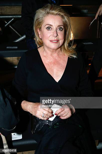 Actress Catherine Deneuve attends the Lanvin show as part of the Paris Fashion Week Womenswear Spring/Summer 2015 on September 25 2014 in Paris France