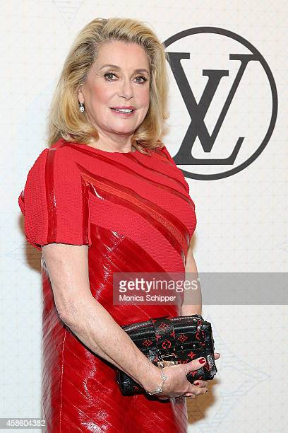 Actress Catherine Deneuve attends the Louis Vuitton Monogram Celebration at Museum of Modern Art on November 7 2014 in New York City
