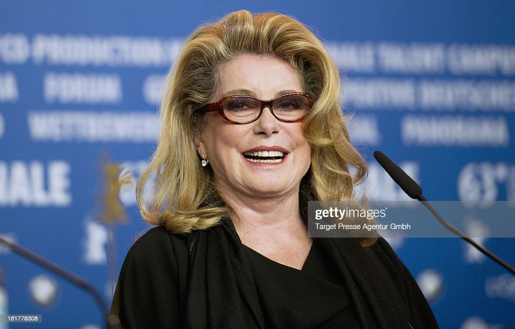 Actress Catherine Deneuve attends the 'On My Way' Press Conference during the 63rd Berlinale International Film Festival on February 15 2013 in...