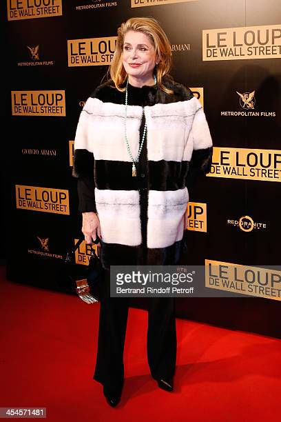 Actress Catherine Deneuve attends the photocall before the movie 'The Wolf of Wall Street' World Premiere at Cinema Gaumont Opera on December 9 2013...