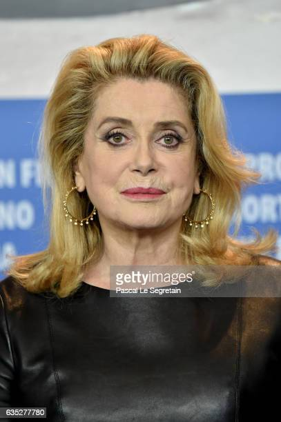 Actress Catherine Deneuve attends the 'The Midwife' press conference during the 67th Berlinale International Film Festival Berlin at Grand Hyatt...