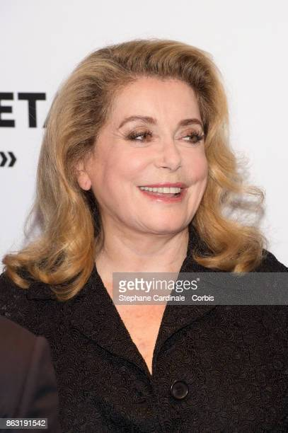 Actress Catherine Deneuve attends the 'Tout Nous Separe' Paris Premiere at UGC Cine Cite Bercy on October 19 2017 in Paris France