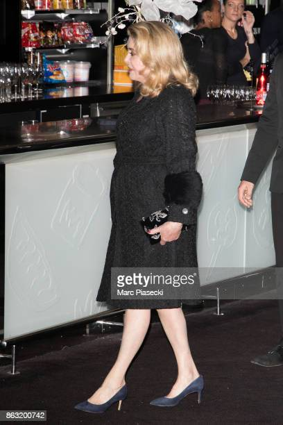 Actress Catherine Deneuve attends the 'Tout nous separe' Premiere at UGC Cine Cite Bercy on October 19 2017 in Paris France