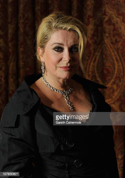 Actress Catherine Deneuve during a portrait session at the 7th Annual Dubai International Film Festival held at the Madinat Jumeriah Complex on...