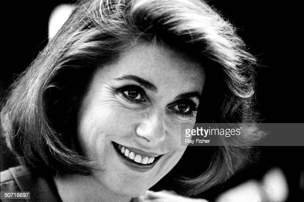 Actress Catherine Deneuve during a promotional tour for her perfume