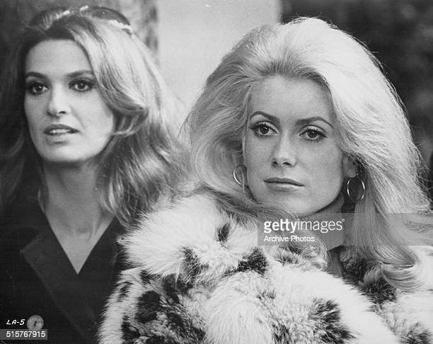 Actress Catherine Deneuve in a scene from the film 'Ils sont grands ces petits' 1979