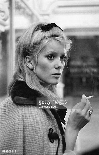 Actress Catherine Deneuve in Paris France in 1964