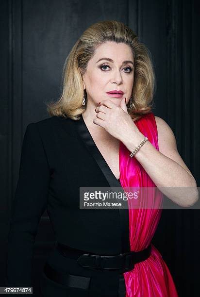 Actress Catherine Deneuve is photographed for The Hollywood Reporter on May 15 2015 in Cannes France **NO SALES IN USA TILL AUGUST 28 2015**