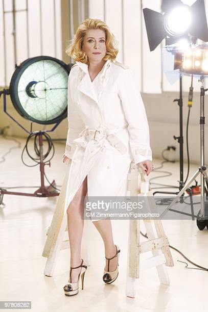 Actress Catherine Deneuve poses at a portrait session in Paris France for Madame Figaro Published image CREDIT MUST READ Gilles Marie...