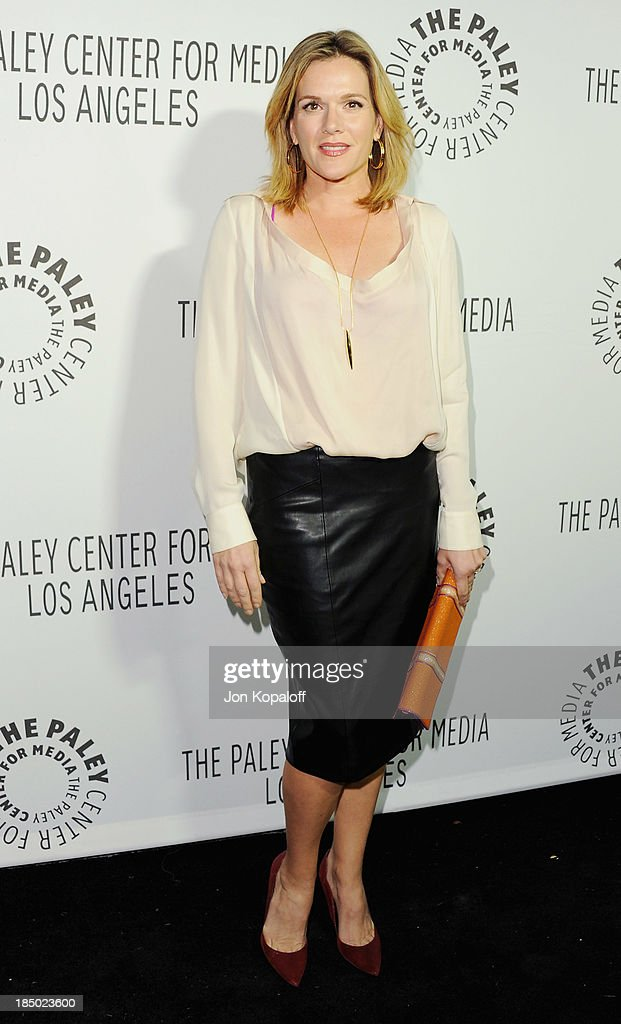 Actress <a gi-track='captionPersonalityLinkClicked' href=/galleries/search?phrase=Catherine+Dent&family=editorial&specificpeople=217704 ng-click='$event.stopPropagation()'>Catherine Dent</a> arrives at The Paley Center for Media Hosts 2013 Benefit Gala Honoring FX Networks on October 16, 2013 in Los Angeles, California.