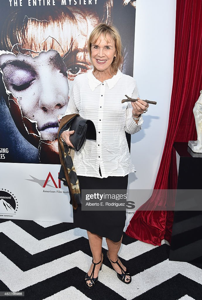Actress Catherine E. Coulson arrives to The American Film Institute Presents 'Twin Peaks-The Entire Mystery' Blu-Ray/DVD Release Screening at the Vista Theatre on July 16, 2014 in Los Angeles, California.