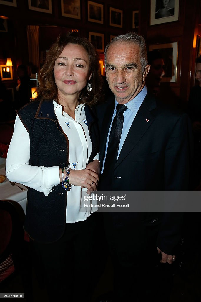Actress Catherine Frot and President of Academy of Cesar <a gi-track='captionPersonalityLinkClicked' href=/galleries/search?phrase=Alain+Terzian&family=editorial&specificpeople=2455092 ng-click='$event.stopPropagation()'>Alain Terzian</a> attend 'Cesar 2016 Nominee Luncheon' at Le Fouquet's on February 6, 2016 in Paris, France.