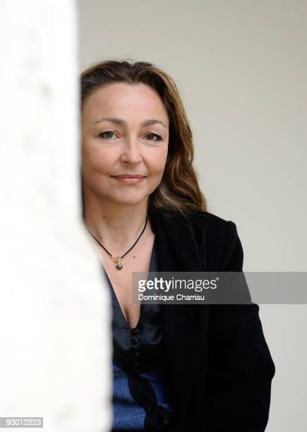 Actress Catherine Frot attends a photocall for the movie 'Le Vilain' during the Sarlat Film Festival on November 12 2009 in SarlatlaCaneda France