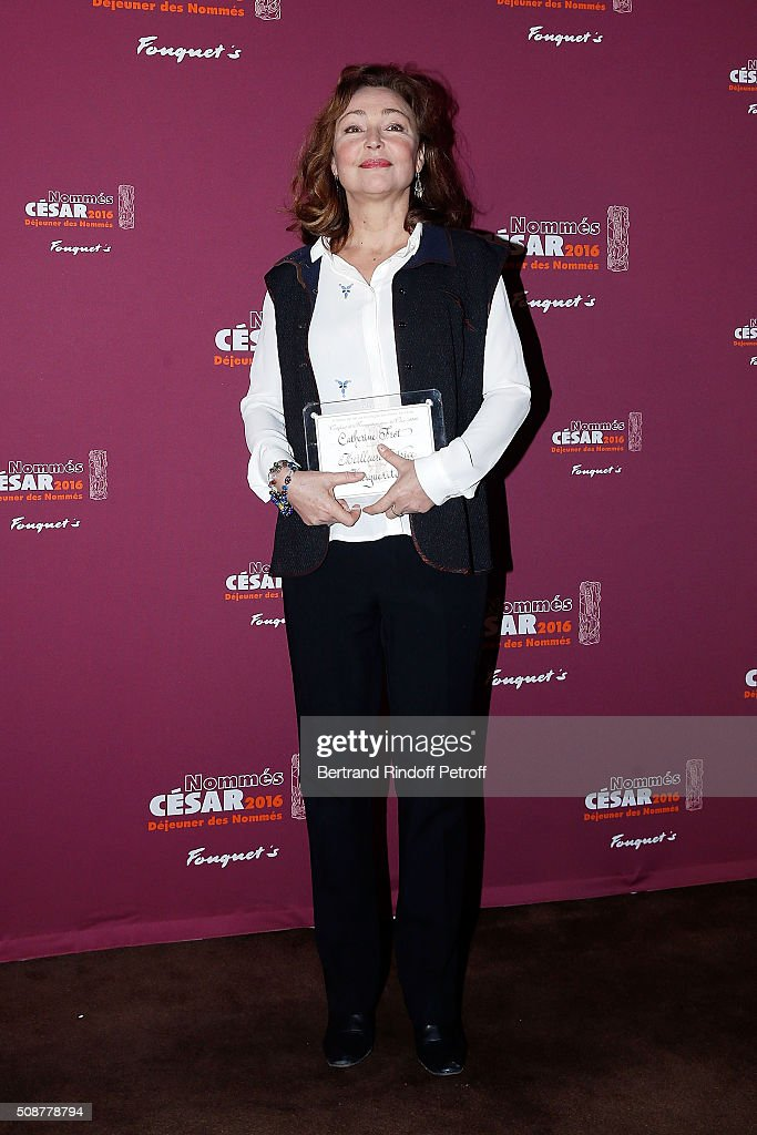 Actress <a gi-track='captionPersonalityLinkClicked' href=/galleries/search?phrase=Catherine+Frot&family=editorial&specificpeople=623880 ng-click='$event.stopPropagation()'>Catherine Frot</a> attends 'Cesar 2016 Nominee Luncheon' at Le Fouquet's on February 6, 2016 in Paris, France.