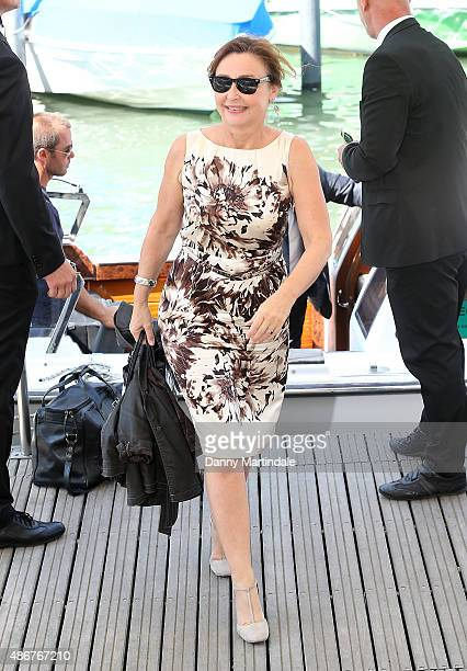 Actress Catherine Frot attends day 3 of the 72nd Venice Film Festival on September 4 2015 in Venice Italy