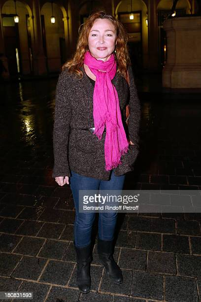Actress Catherine Frot attends 'Nina' Premiere at Theatre Edouard VII on September 16 2013 in Paris France