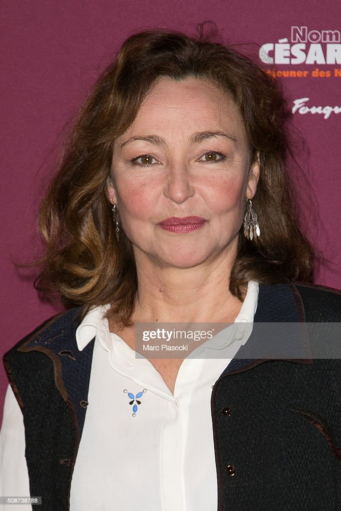 Actress <a gi-track='captionPersonalityLinkClicked' href=/galleries/search?phrase=Catherine+Frot&family=editorial&specificpeople=623880 ng-click='$event.stopPropagation()'>Catherine Frot</a> attends the 'Cesar 2016- Nominee luncheon' at Le Fouquet's on February 6, 2016 in Paris, France.