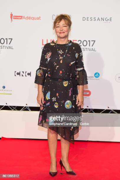 Actress Catherine Frot attends the Opening Ceremony of the 9th Film Festival Lumiere on October 14 2017 in Lyon France
