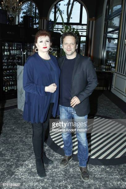 Actress Catherine Jacob and Actor Jonathan Zaccai attend ReOpening Ceremony of Hotel Hermitage Barriere on April 29 2017 in La Baule France