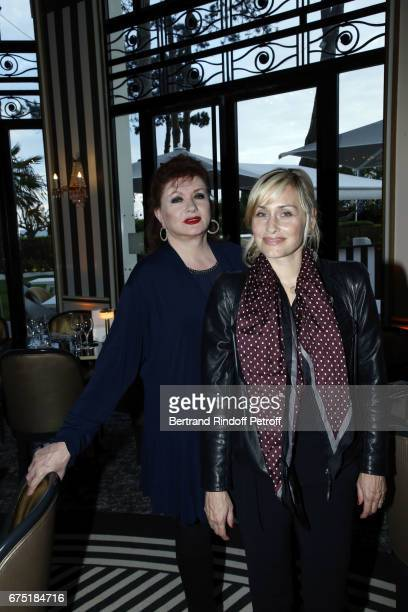 Actress Catherine Jacob and Director Elodie Hesme attend ReOpening Ceremony of Hotel Hermitage Barriere on April 29 2017 in La Baule France