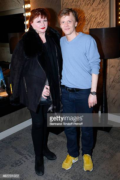 Actress Catherine Jacob and Humorist Alex Lutz attend Alex Lutz One man Show at L'Olympia on January 24 2015 in Paris France