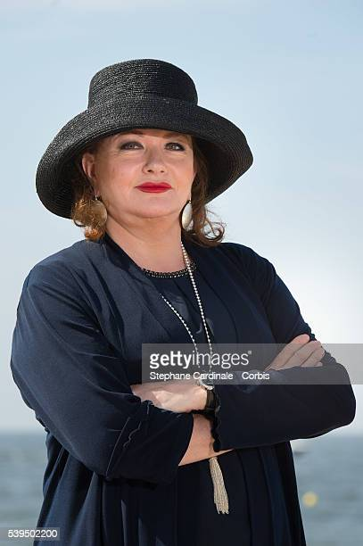 Actress Catherine Jacob attends a photocall during the 30th Cabourg Film Festival on June 11 2016 in Cabourg France