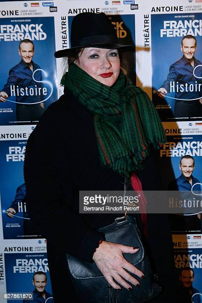 Actress Catherine Jacob attends Franck Ferrand performs in his Show 'Histoires' at Theatre Antoine on December 5 2016 in Paris France
