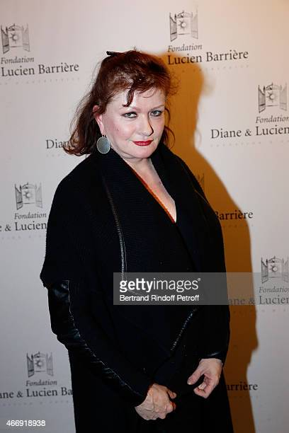 Actress Catherine Jacob attends movie 'Les Chateaux de Sable' receives Cinema Award 2015 of Foundation Diane Lucien Barriere during the premiere of...