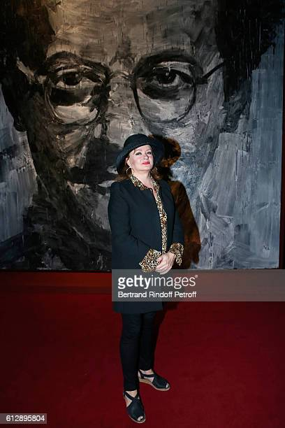 Actress Catherine Jacob attends the Coluche Exhibition Opening This exhibition is organized for the 30 years of the disappearance of Coluche Held at...
