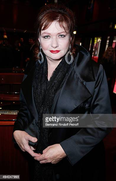 Actress Catherine Jacob attends the 'Mugler Follies' 100th Edition at Le Comedia in Paris on May 26 2014 in Paris France