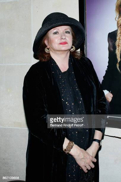 Actress Catherine Jacob attends the One Woman Show by Christelle Chollet for the Inauguration of the Theatre de la Tour Eiffel Held at Theatre de la...