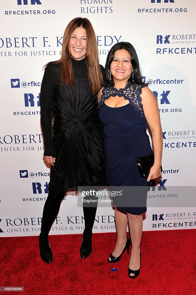Actress <a gi-track='captionPersonalityLinkClicked' href=/galleries/search?phrase=Catherine+Keener&family=editorial&specificpeople=239455 ng-click='$event.stopPropagation()'>Catherine Keener</a> (L) and Librada Paz attend Robert F. Kennedy Center For Justice And Human Rights 2013 Ripple Of Hope Awards Dinner at New York Hilton Midtown on December 11, 2013 in New York City.